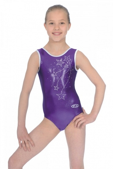 Ariel Sleeveless Crystal Motif Leotard