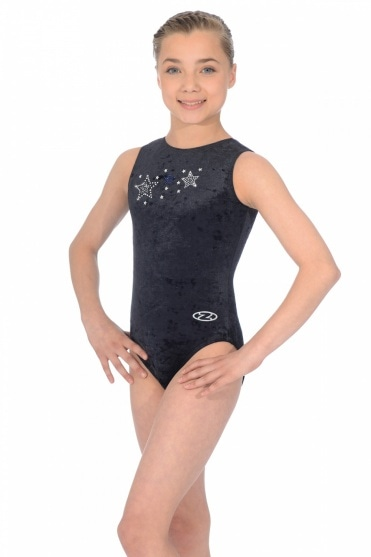 Stellar Sleeveless Round Neck Motif Leotard