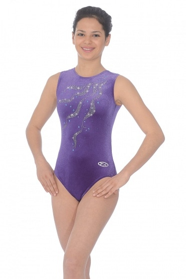 Ribbons Sleeveless Gymnastics Leotard