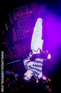 Bradley Hampson performing in the circus