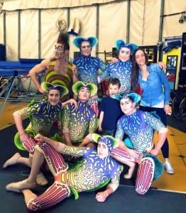 Jack Helme, accompanied by other Cirque du Soleil's KURIOS acrobats
