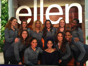 Me with Sophina and the others backstage on the Ellen DeGeneres show