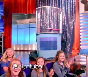 A screenshot of me on Ellen!