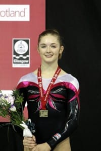 Me with my medal in Glasgow in 2011