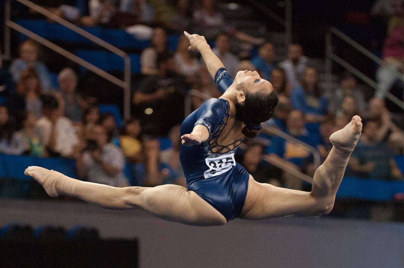 Former U.S. / UCLA Gymnast Vanessa Zamarripa now works as a stuntwoman