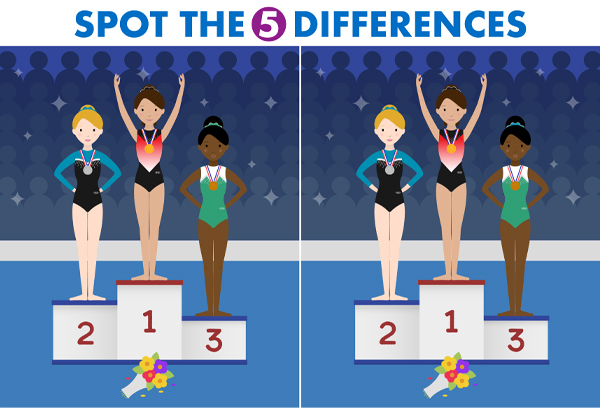 Gymnastics Spot The Difference