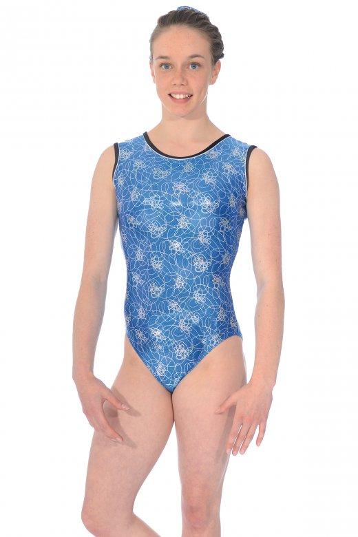 All-over Print Sleeveless Gymnastics Leotard