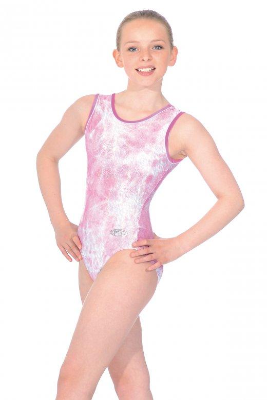 Angel All-Over Print Sleeveless Gymnastics Leotard