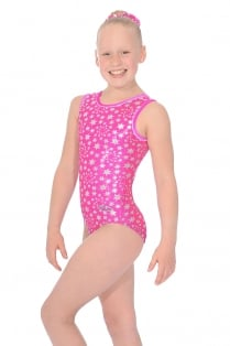 Astral Print Sleeveless Gymnastics Leotard