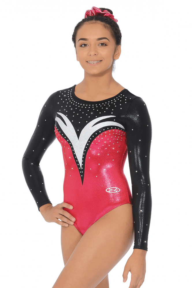 Athena Girls' Long Sleeve Gymnastics Leotard