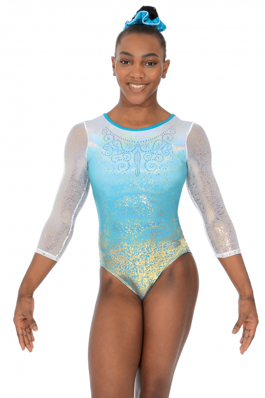 478283b02 Vienna 3 4 Sleeve Gymnastics Leotard