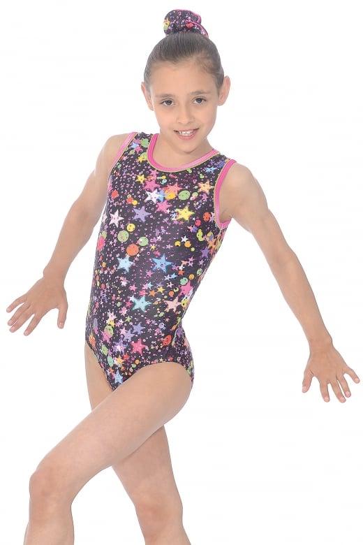 Bubbles Print Gymnastics Leotard