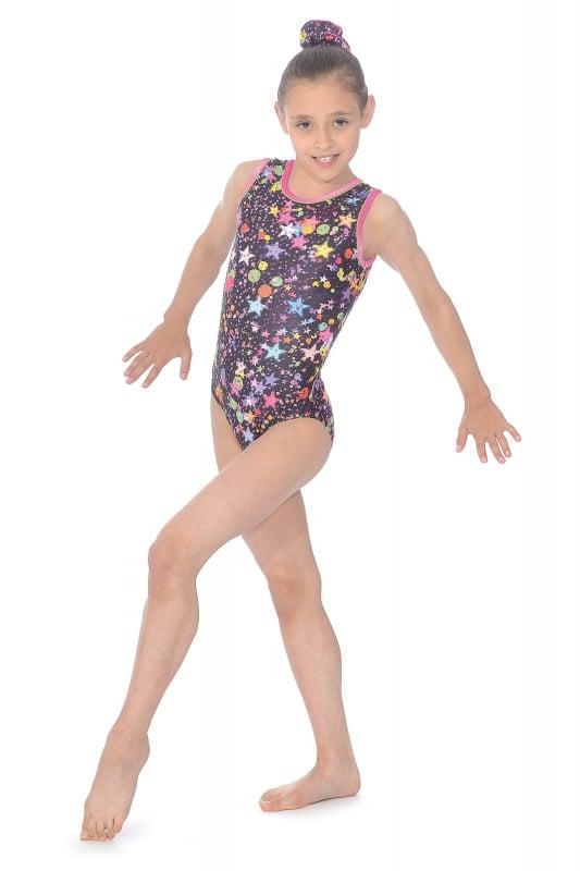 7842f8985c6d Bubbles Print Gymnastics Leotard | The Zone