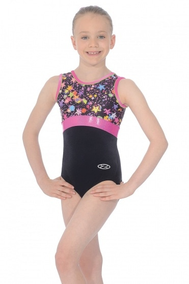 Bubbles Sleeveless Gymnastics Leotard