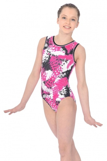 Carnival Print Sleeveless Leotard
