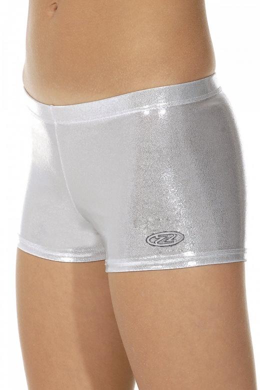 Chic Shiny Nylon Lycra Hipster Gymnastics Shorts