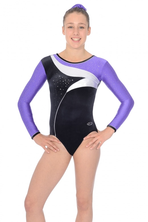 Cosmic Long Sleeved Gymnastics Leotard