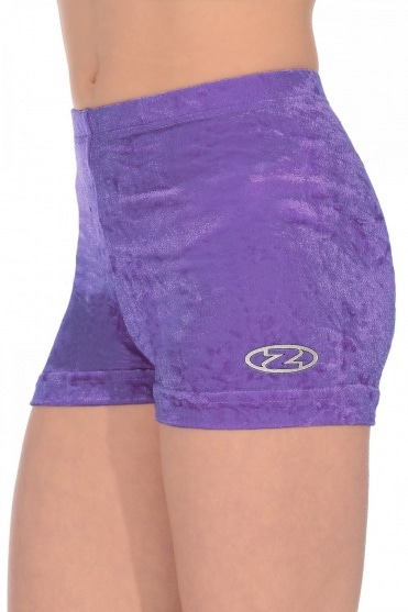 Crushed Velour Gymnastics Shorts