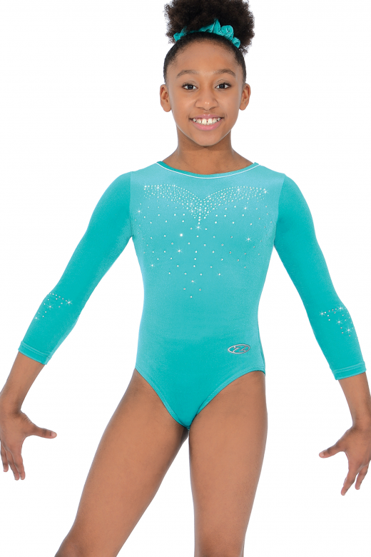 Crystal Long Sleeve Gymnastics Leotard