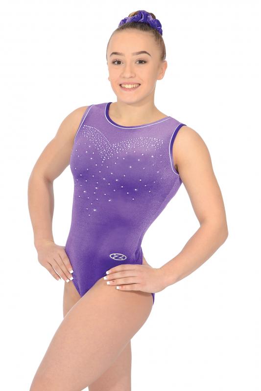 b15472b6d719 Crystal Sleeveless Gymnastics Leotard