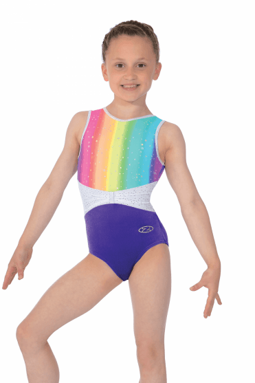 3195ae5aa94b Daydream Rainbow Girls  Sleeveless Gymnastics Leotard
