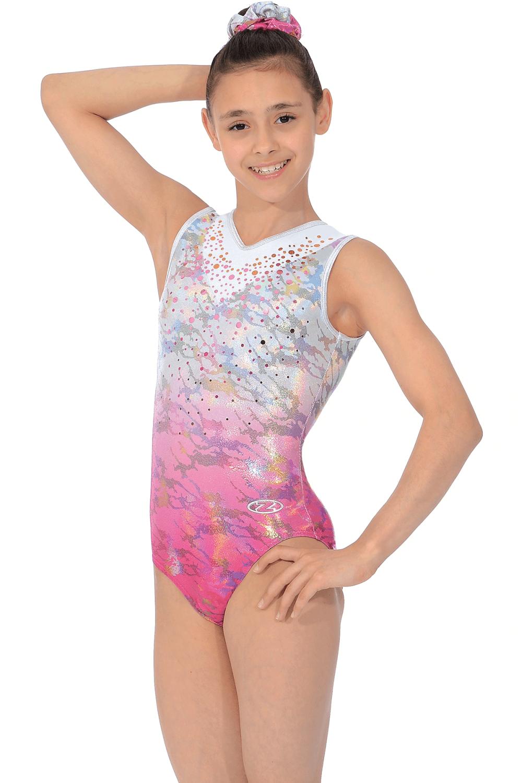 Delight Pink Ombre Sleeveless Gymnastics Leotard The Zone