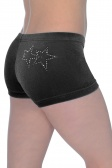 Diva Smooth Velour Hipster Gymnastics Shorts with Twin Crystal Stars