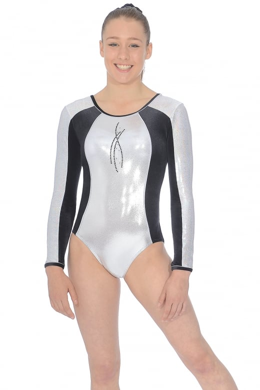 Ebony Long Sleeve Gymnastics Leotard