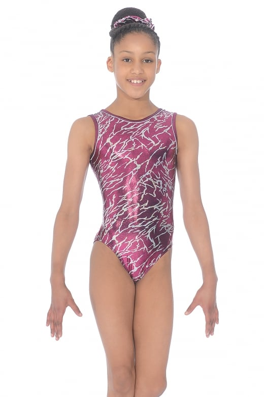Electra All-Over Print Sleeveless Gymnastics Leotard