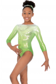 Enchanted 3/4 Length Sleeve Gymnastics Leotard