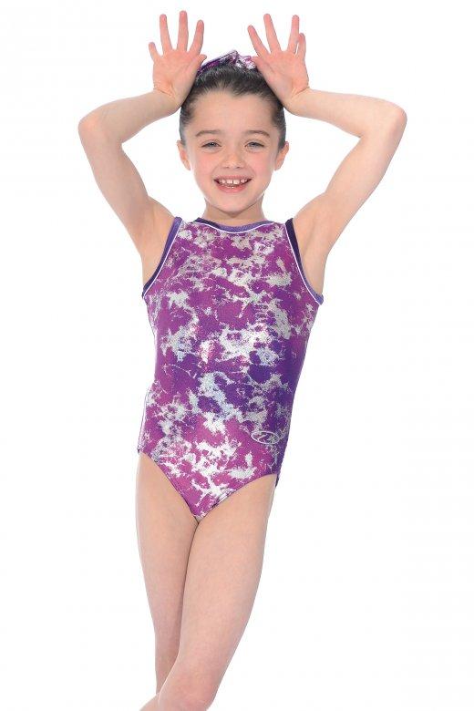 Fusion All-over Print Sleeveless Gymnastics Leotard