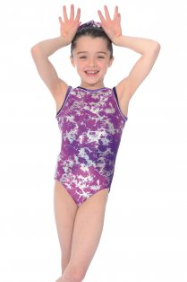 Fusion All-over Print Sleeveless Gymnastics Leotard
