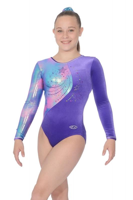 3e99647b3b78 Gemini Long Sleeve Gymnastic Leotard