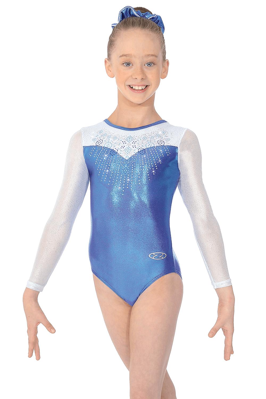 Girls Mabelle Long Sleeved Holo-Sheen Gymnastics Leotard