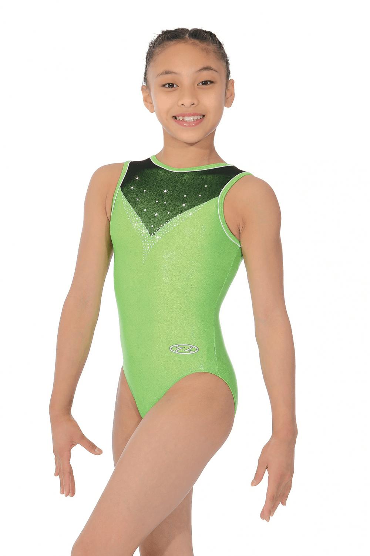 45ecfa0596ecd0 Harper Shiny Girls' Sleeveless Gymnastics Leotard | The Zone (Z500HAR)
