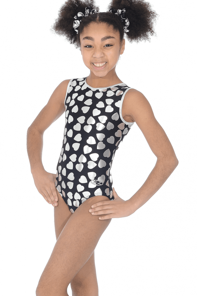 Heartbeat Sleeveless Girls' Gymnastics Leotard