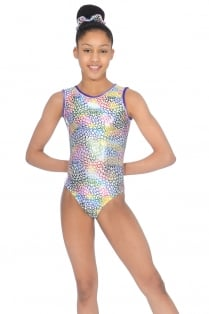 Jelly Bean Print Sleeveless Leotard