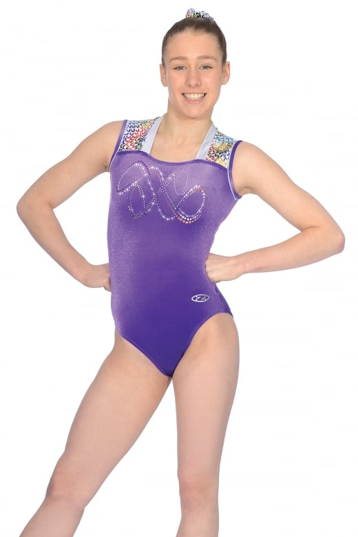 Jelly Bean Sleeveless Gymnastics Leotard