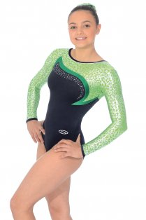 Leopard Long Sleeved Gymnastics Leotard