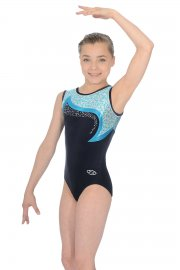 Leopard Sleeveless Gymnastics Leotard