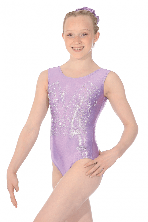 Liberty Round Neck Sleeveless Shine Gymnastics Leotard