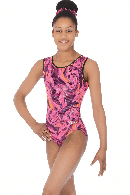 Lola Pink/Orange Sleeveless Gymnastics Leotard