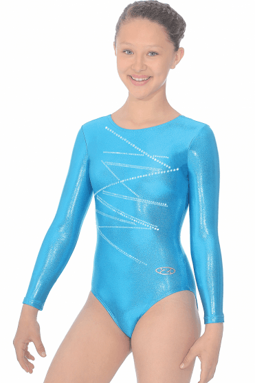 Long Sleeve Gymnastics Shine Leotard Motif 4