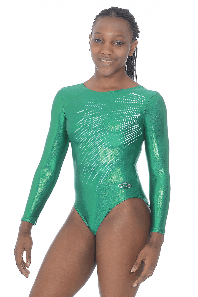 Long Sleeve Gymnastics Shine Leotard Motif 8
