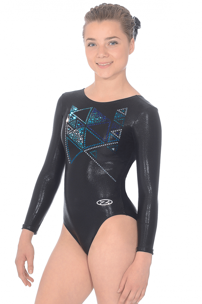 Long Sleeve Gymnastics Shine Leotard Motif 9