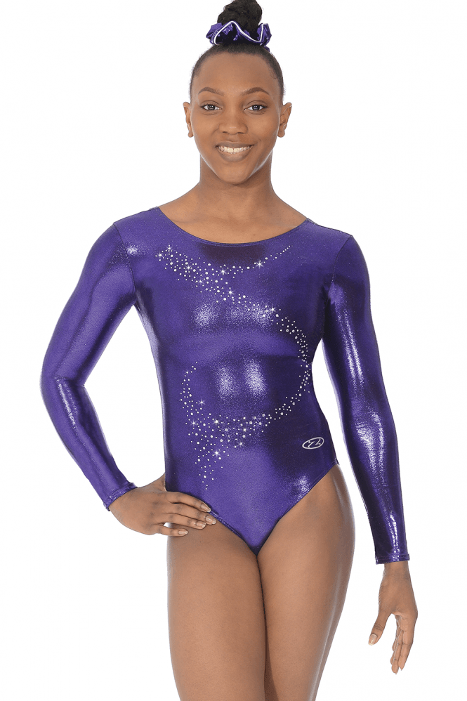 Long Sleeve Shine Gymnastics Leotard Motif 1
