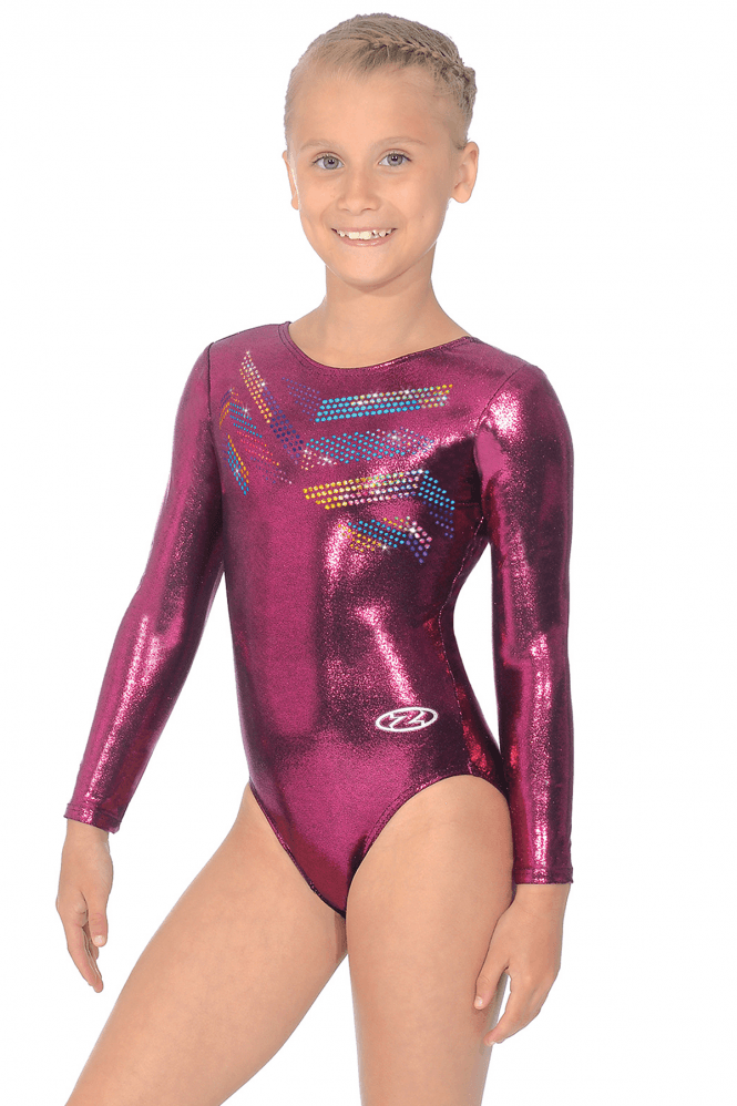 Long Sleeve Shine Leotard Motif 2