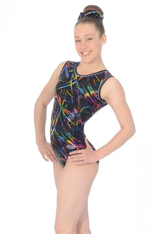 Macy All-over Print Sleeveless Leotard