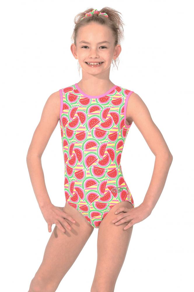 Melon Print Girls' Fun Gymnastics Leotard