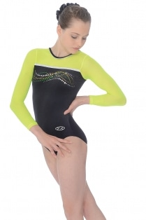 Neon Long Sleeve Gymnastics Leotard